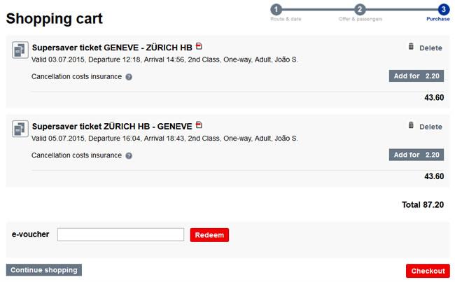 Viagem de Trem na Suíça: como comprar bilhete barato! (Passo 7)