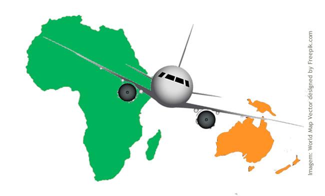 Companhias aéreas Low Cost: África e Oceania
