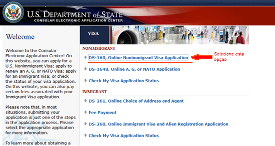 Passo-a-passo para solicitar o visto americano