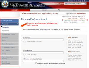 Passo-a-passo para solicitar o visto americano (DS-160)