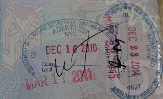 Viagens para os Estados Unidos: autorização de permanência