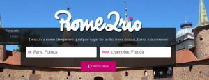 Rome2rio para planejar o roteiro de viagem