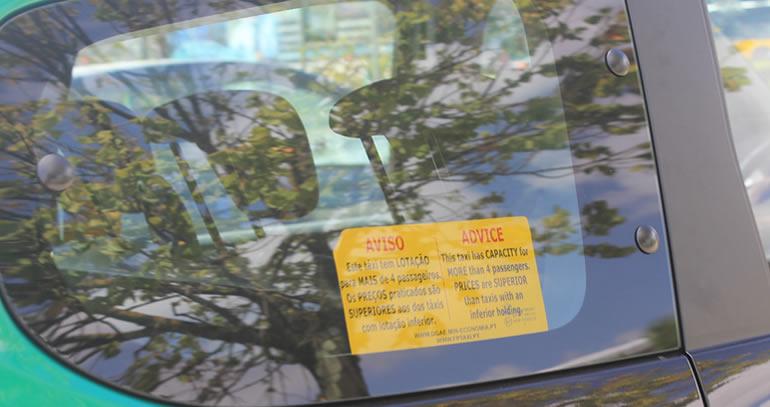 Dicas de Portugal: táxi