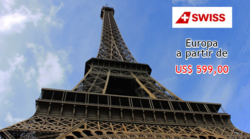 Promoção de passagens aéreas para Europa Swiss