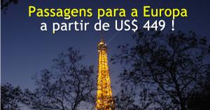Promoção de Passagens Aéreas para Europa