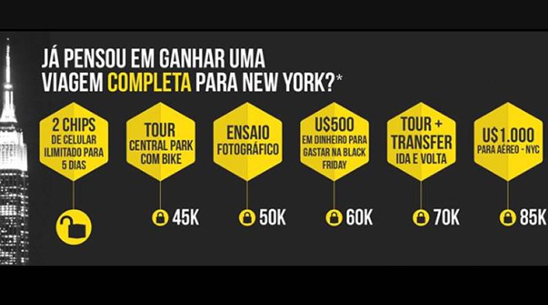 Concorra a uma viagem para Nova York